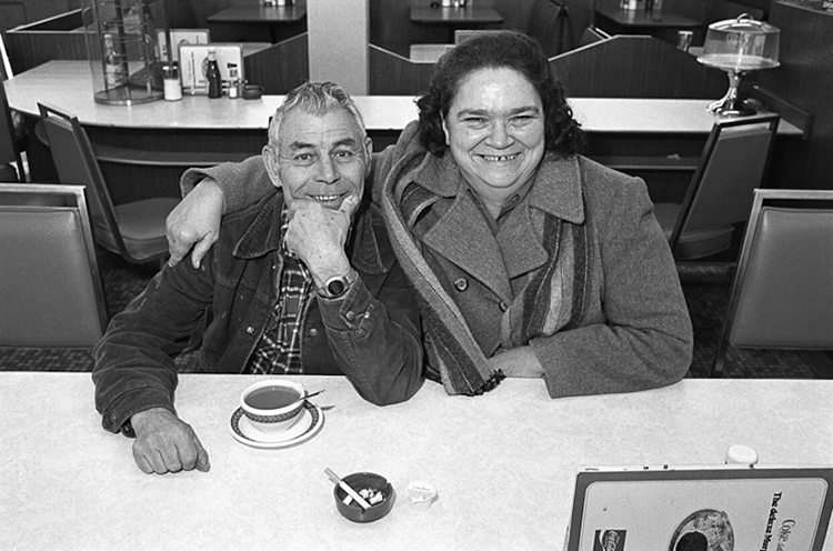 Friends at the Diner, Athens Mall.